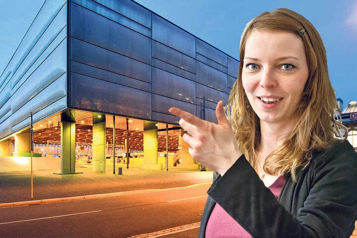 Jeanette Kiesinger (32) vom VMS verspricht für Anfang 2018 ein neues Programm  für die LED-Wand.