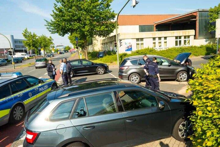 Die Polizei war an der Unfallstelle vor Ort.