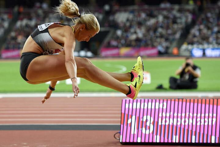 Kristin Gierisch sprang auf 14 Meter und kam damit auf den fünften Platz.
