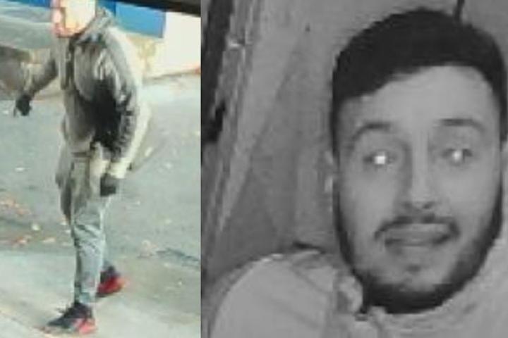 Einer der beiden Tatverdächtigen trug rot-schwarze Schuhe und eine Umhängetasche.