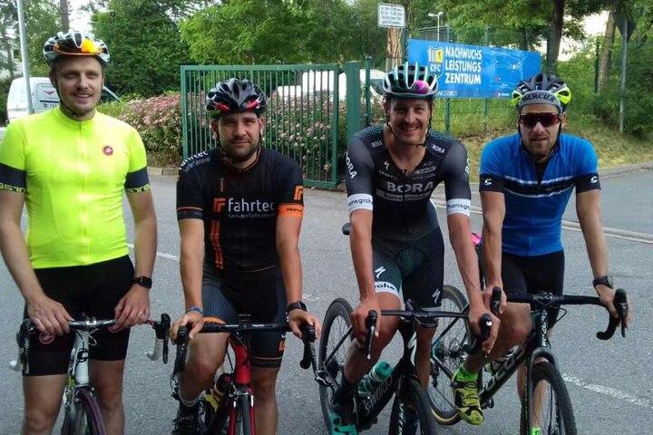 Von rechts: William Mende, Marcus Burghardt, Dennis Freitag und Paul Mehlhorn.