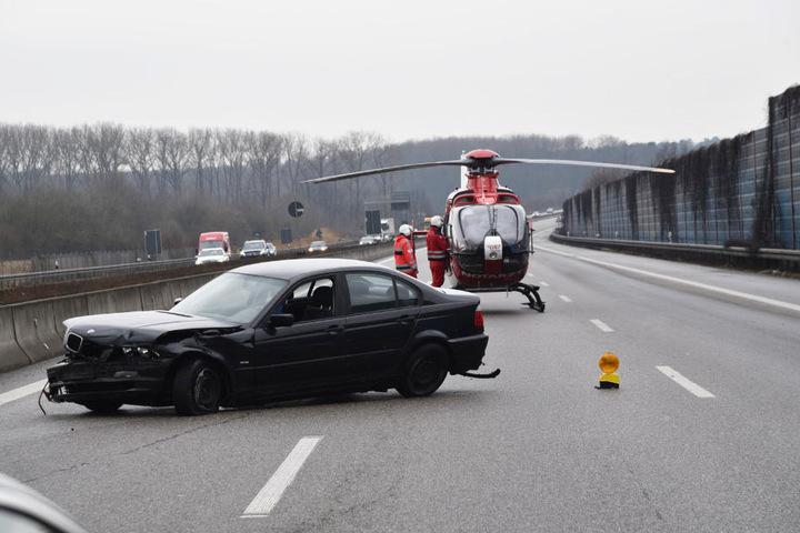 Die Strecke wurde in Richtung Mannheim während des Rettungshubschrauber-Einsatzes voll gesperrt.