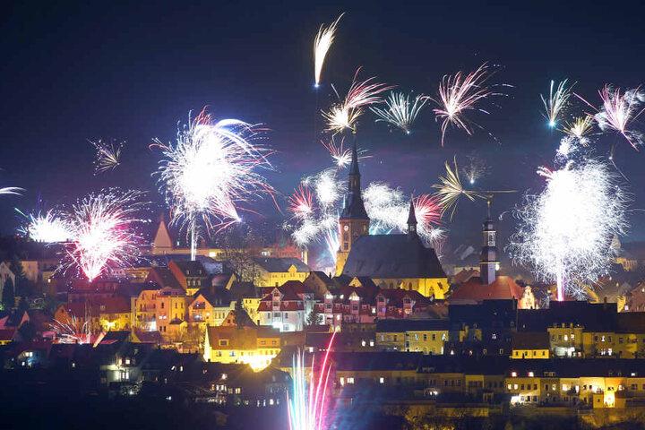 Auch Waldenburg feierte mit einem prächtigen Feuerwerk ins neue Jahr.