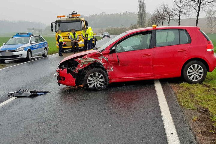 Ein Autofahrer hatte wegen eines Radfahrers vor ihm gebremst.
