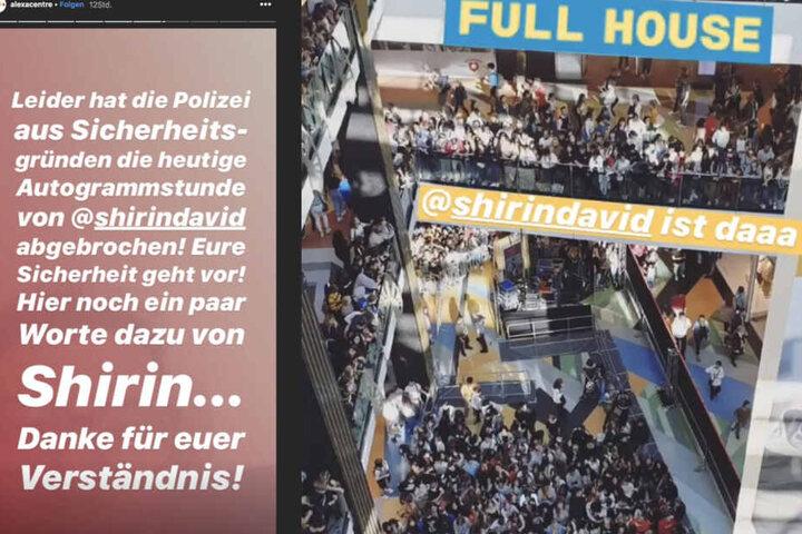 Eine Autogrammstunde im Berliner Alexa musste abgebrochen werden.