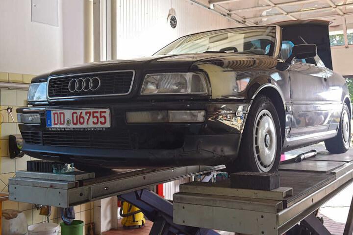 Das Audi 80-Cabrio (Baujahr 1990) vor der Aufmotzung.