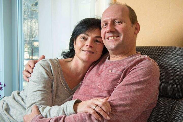 Randfichte Michael Rostig (54) mit seiner neuen Frau Kathrin (51).