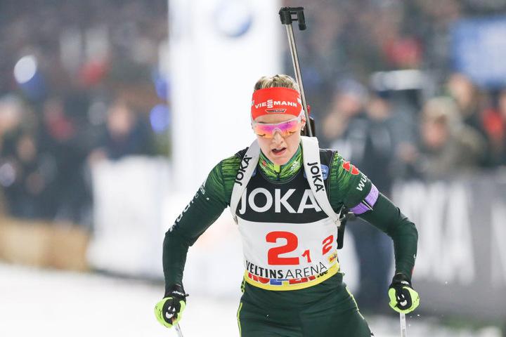 Auf Denise Herrmann liegen die deutschen Biathlon-Hoffnungen am Wochenende.