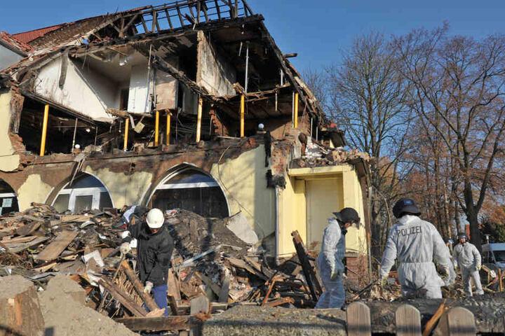 Die Fluchtwohnung in Zwickau war durch die Explosion komplett zerstört worden.