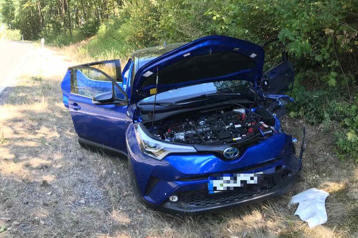 Die Toyota-Fahrerin und ihr kleines Kind wurden bei dem Unfall glücklicherweise nur leicht verletzt.