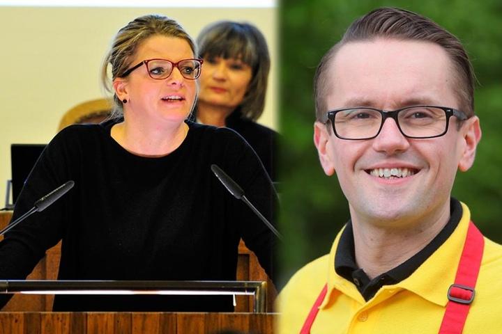 Susanne Schaper (38), Chefin der Fraktion Die Linke und Stadtrat Andreas Marschner (36, CDU) unterstützen die Petition.