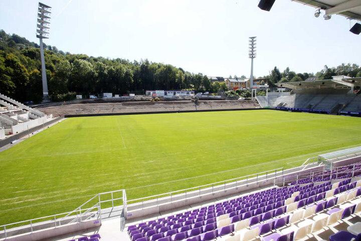 In wenigen Wochen wird das FCE-Stadion vollendet sein.