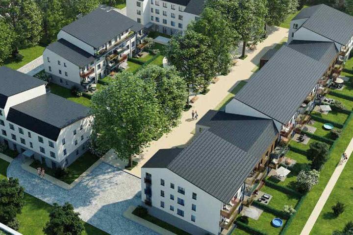 Der Bauabschnitt der Columbus Dresden GmbH beinhaltet vier Häuser.
