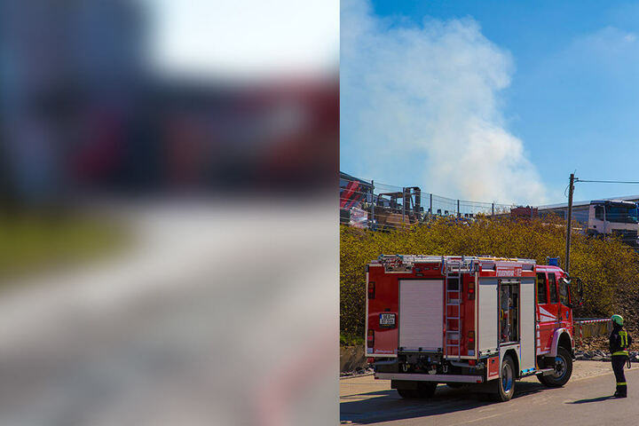 Die Rauchwolke über der Firma war kilometerweit zu sehen.