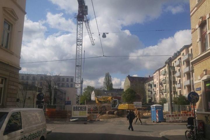 An der Ecke Scheunenhofstraße/ Schönbrunnstraße wurde die Bombe gefunden.