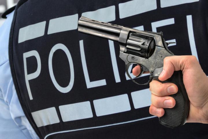 Die Polizisten entdeckten eine Pistole am Fahrergurt. (Fotomontage/Symbolbild)