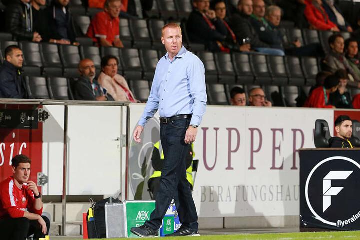 Dynamo-Coach Maik Walpurgis dürfte mit dem Auftritt seiner Mannschaft zufrieden gewesen sein