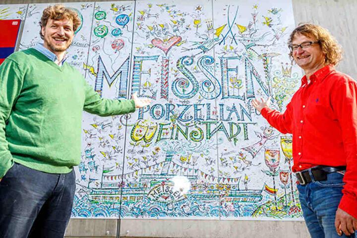 Und sie sind die Künstler dahinter: Kay Leonhardt (51, r.) und Daniel Bahrmann (42).