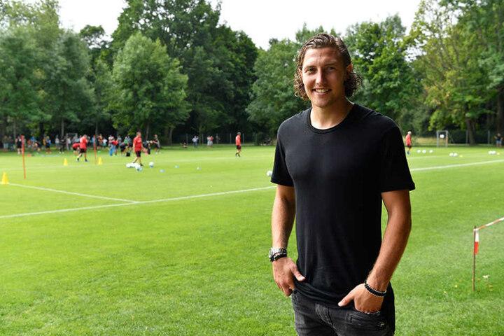 Michael Hefele schaute bei Dynamo an seinem alten Arbeitsplatz im  Großen Garten vorbei.
