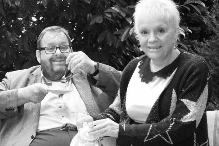 Billie Zöckler mit Ottfried Fischer im Jahr 2015.