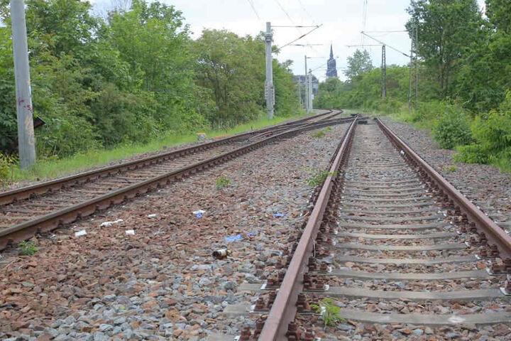 Die Unfallstelle auf einem Bahngelände in Dresden.