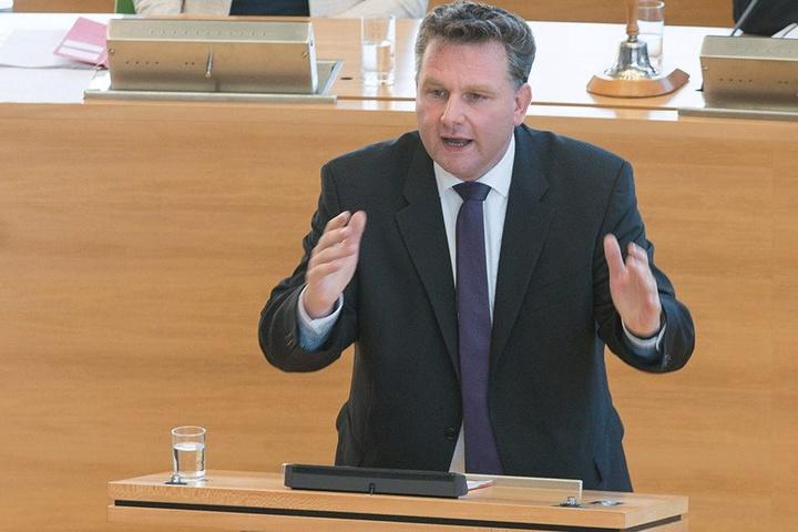 CDU-Innenpolitiker Christian Hartmann (42) ist selbst Polizist.