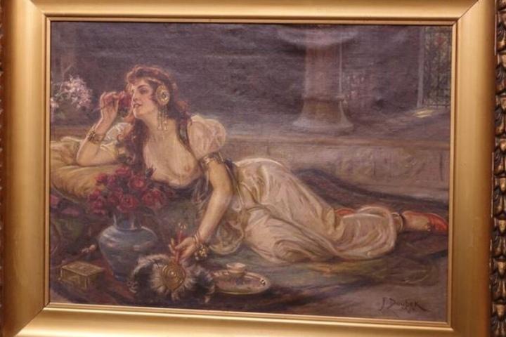 Blick auf das Gemälde von Franz Doubek.