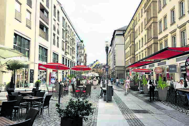 Zu den sieben Restaurants in der Inneren Klosterstraße sollen weitere sechs  dazukommen.