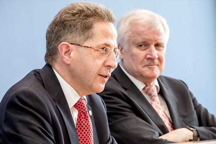 Innenminister Horst Seehofer (CSU, re.) und Hans-Georg Maaßen.
