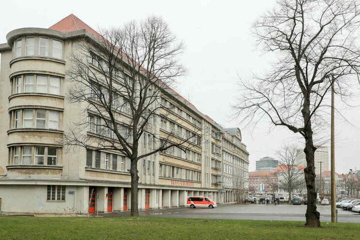 Die Hauptfeuerwache im Leipziger Zentrum.