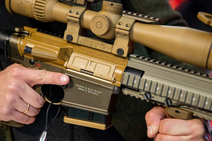 Ein Präzisionsgewehr vom Typ G28 von Heckler und Koch.