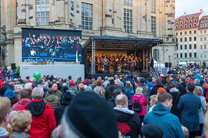 Dresden feierte bei durchwachsenem Wetter aber mit bester Laune.