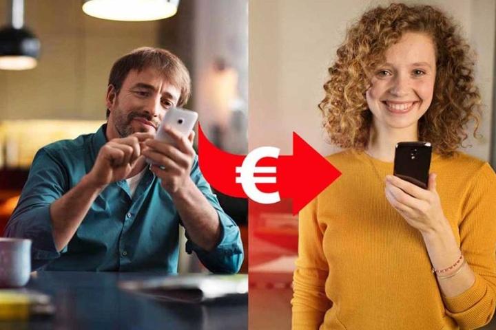 Einfach einen Kontakt auswählen, den Betrag eingeben und dann wird das Geld verschickt. Bis 30 Euro geht das sogar ohne TAN!