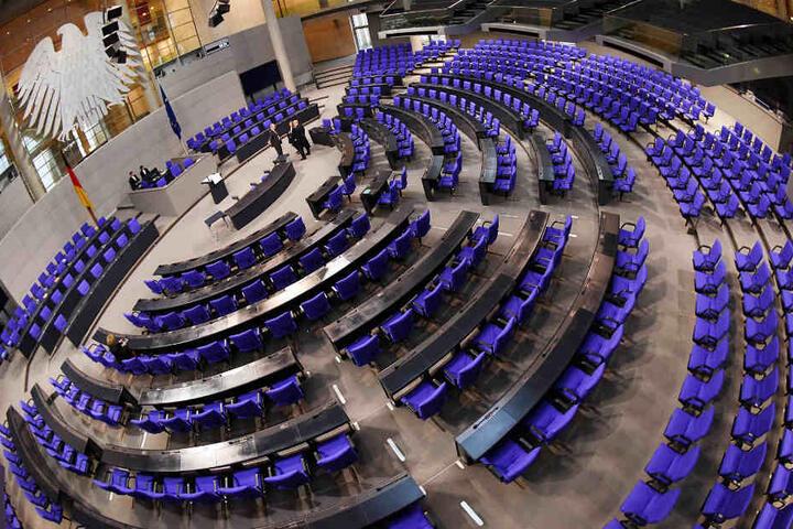 Der Plenarsaal des Deutschen Bundestags (Archivbild).