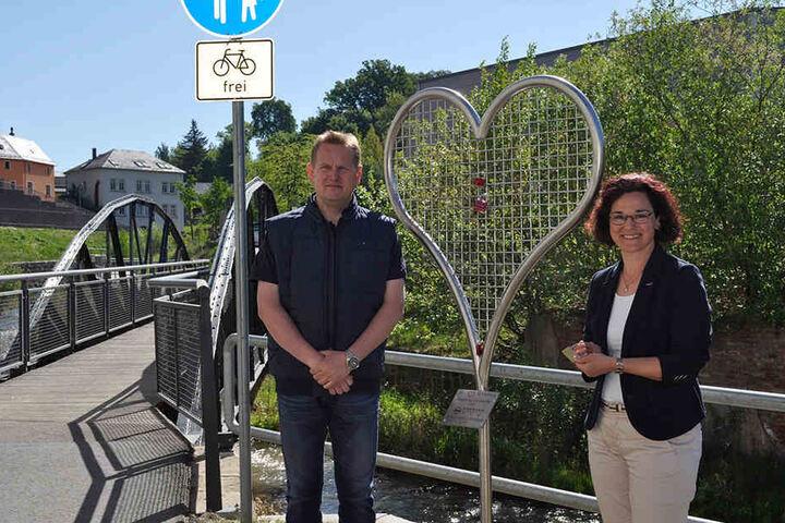 Die Bürgermeisterin von Kirchberg, Dorothee Obst, hatte die herzige Idee.