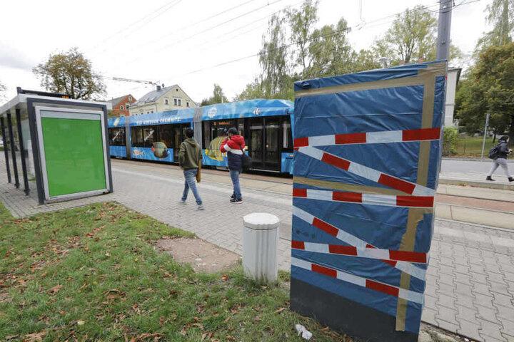 An der Haltestelle Gablenzplatz wurde Mitte Oktober ein Fahrkartenautomat gesprengt.