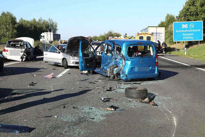 Nach dem Unfall musste die A4 auf unbestimmte Zeit gesperrt werden.