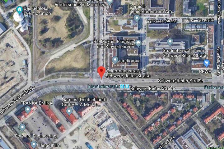 Das kleine Mädchen wurde im Bereich Ackermannstraße/Schwere-Reiter-Straße entdeckt.