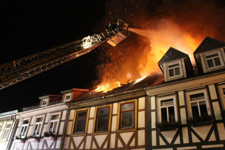 Das Feuer war am Dienstagabend ausgebrochen.
