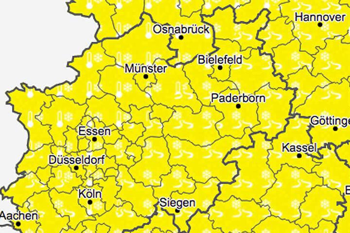 Der Deutsche Wetterdienst warnt vor Glätte und Frost.