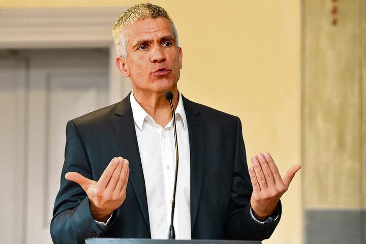 Will eine starke Freie-Wähler-Fraktion im Stadtrat: Grimmas OB Matthias Berger (51).