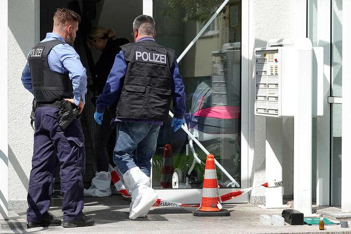 Die Polizei war am Sonntagmorgen in der Comeniusstraße im Einsatz.