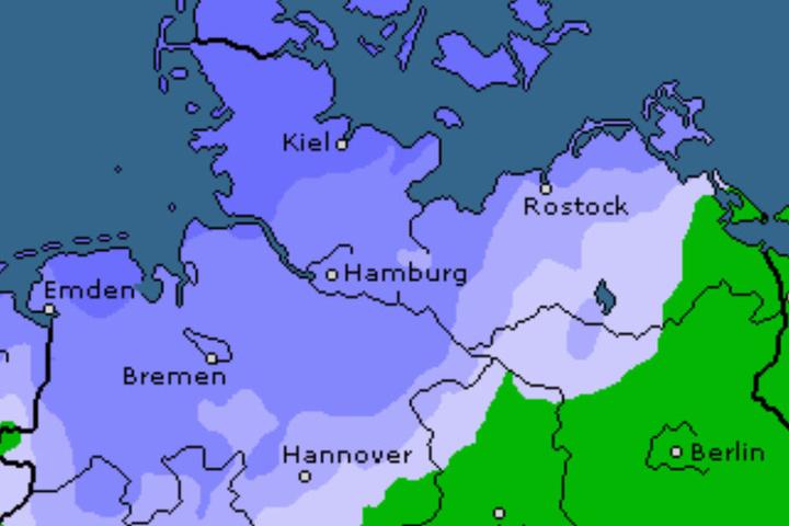 Am Montag ziehen noch Regenschauer über den Norden hinweg.