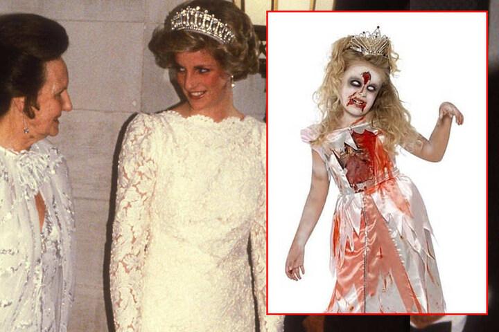 Bei einem Online-Shop kann man sich ein gruseliges Diana-Kostüm bestellen.
