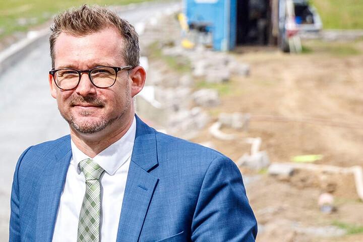 Kämpft mit dem Land um mehr Fördermittel: Baubürgermeister Raoul Schmidt-Lamontain (42, Grüne).