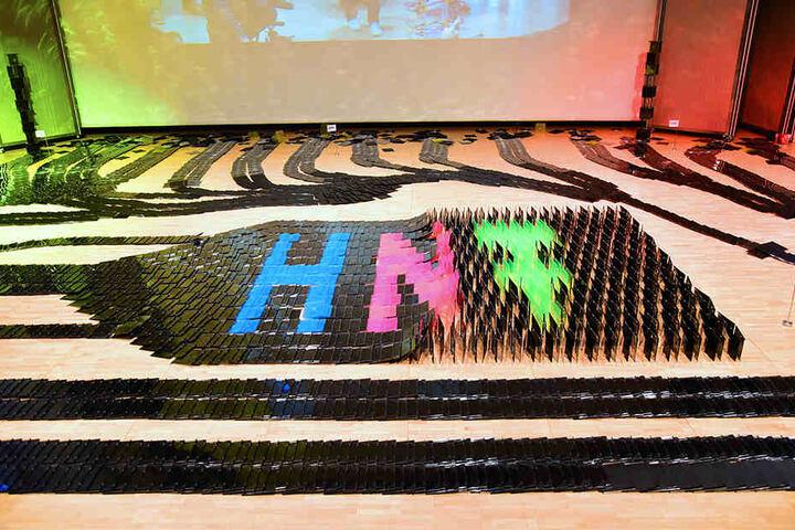 Das HNF wurde natürlich auch im Muster der Hüllen verewigt.