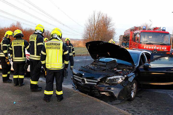 Dem Mercedes wurde offenbar die Vorfahrt genommen.