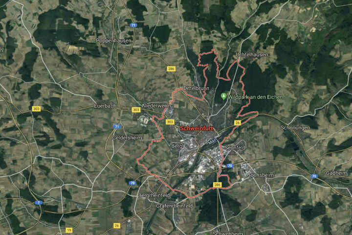 Der Vorfall ereignete sich in Schweinfurt.
