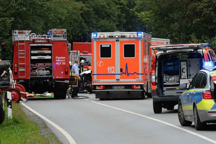 Etwa 30 Einsatzkräfte der Feuerwehr waren vor Ort.