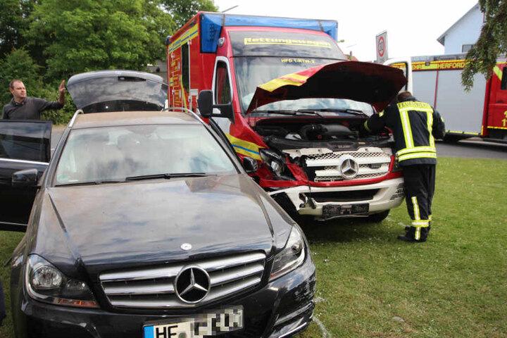 Die Mercedesfahrerin und ihre Tochter kamen ins Krankenhaus.